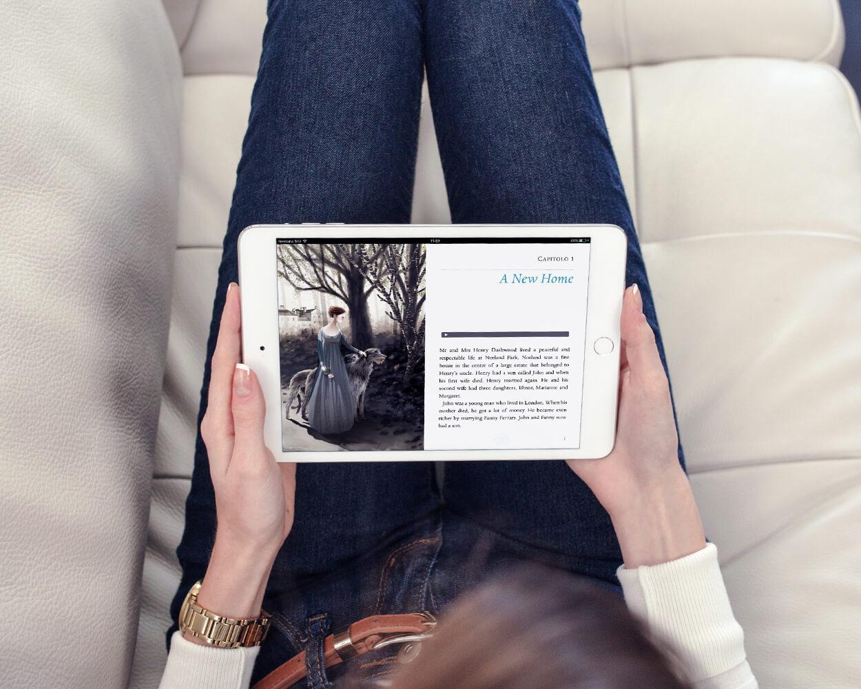 servizi per editori inspired libro digitale sense and sensibility cliente eli edizioni