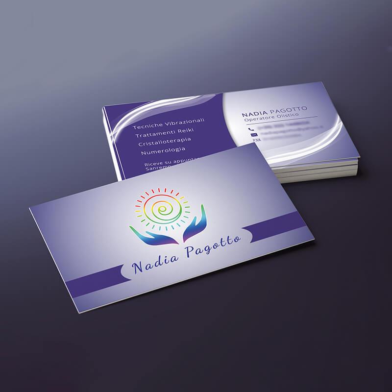 biglietti da visita personalizzati cliente nadia pagotto reiki