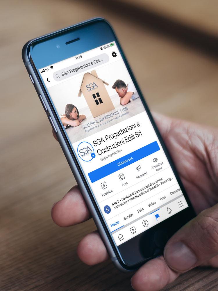 Gestione profilo social facebook SGA Progettazioni