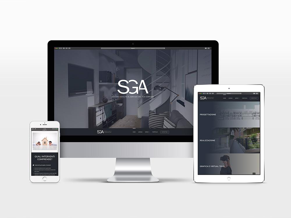 Sviluppo sito web responsive wordpress Sga progettazioni