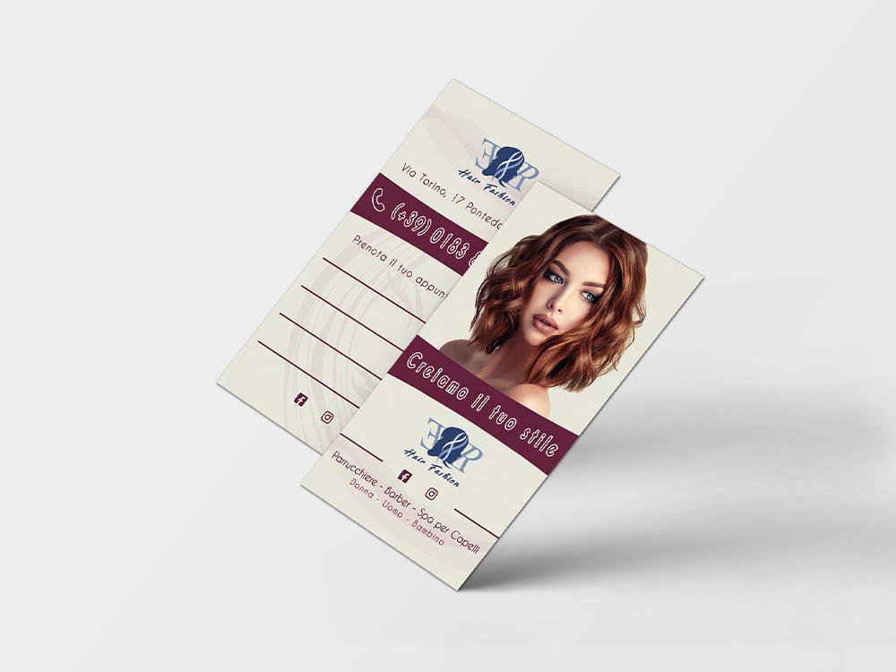Biglietti da visita realizzati per ER Hair Fashion